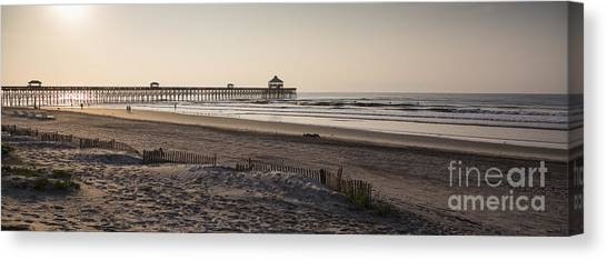 Beach Sunrises Canvas Print - Folly Beach Morning by Dustin K Ryan