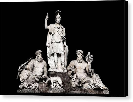Dea Canvas Print - Fontana Della Dea Roma Tra Il Tevere E L'aniene by Fabrizio Troiani