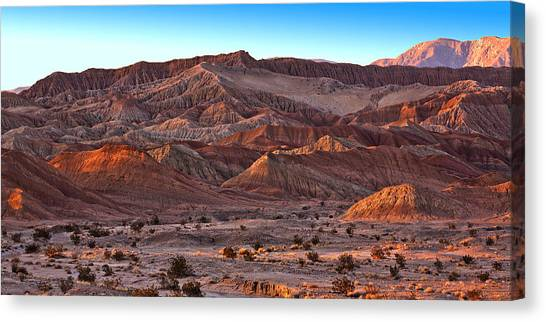 Desert Sunset Canvas Print - Font's Point by Peter Tellone