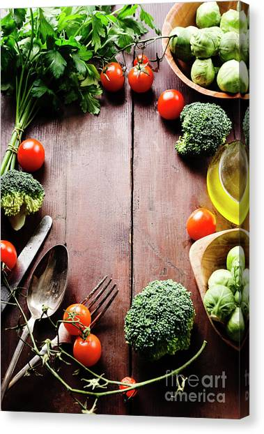 Food Ingredients Canvas Print