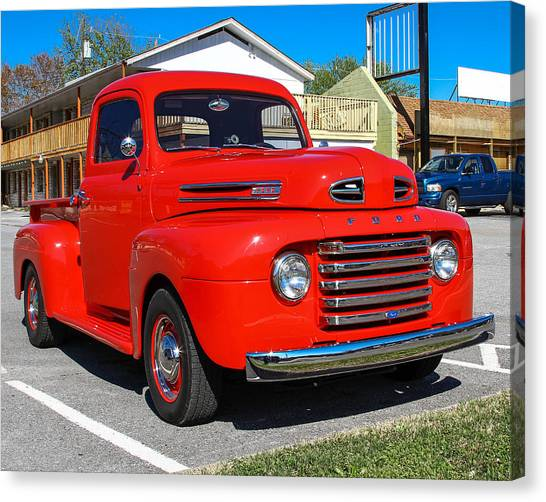 Canvas Print featuring the photograph Ford Truck by Robert L Jackson