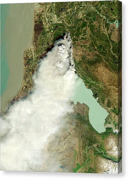 Thunderclouds Canvas Print - Forest Fire by Nasa Earth Observatory