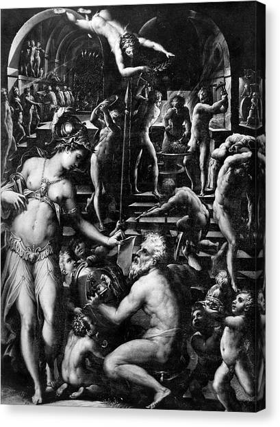 Instructions Canvas Print - Forge Of Vulcan by Granger