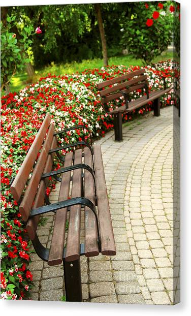 Designing Canvas Print - Formal Garden by Elena Elisseeva