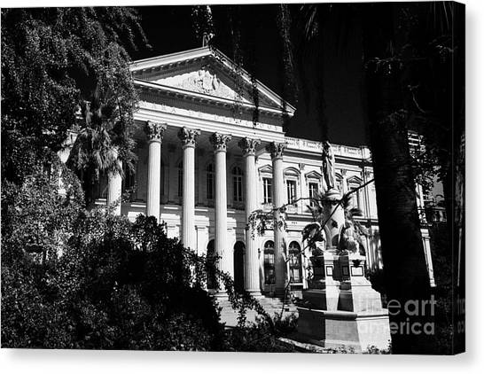 former national congress building Santiago Chile Canvas Print by Joe Fox