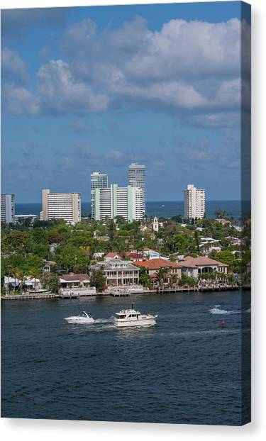 Jet Skis Canvas Print - Fort Lauderdale, Port Everglades by Jim Engelbrecht