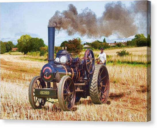 Fowler Ploughing Engine Canvas Print