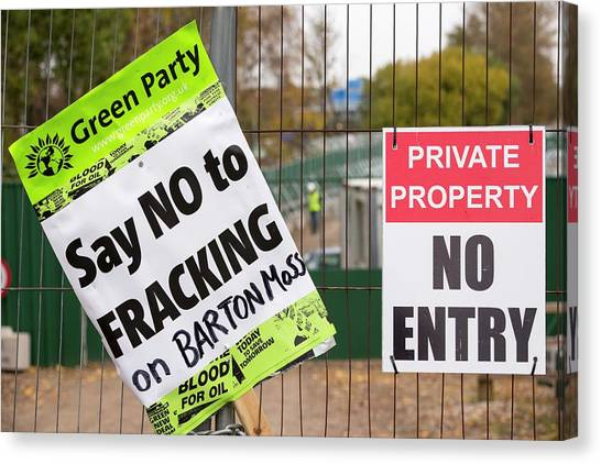 Fracking Canvas Print - Fracking Site by Ashley Cooper