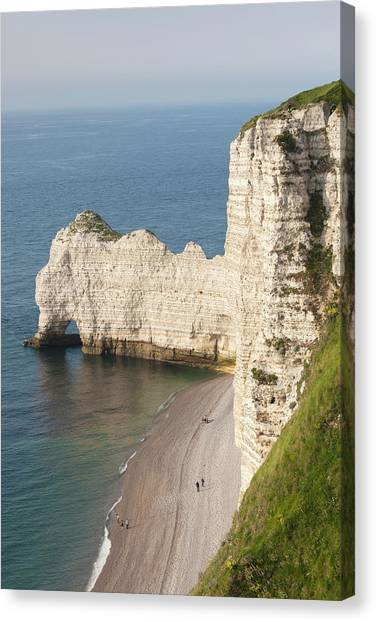 Etretat Canvas Print - France, Normandy, Etretat, Elevated by Walter Bibikow