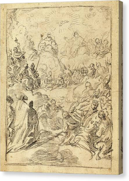 Gloria Canvas Print - Francesco Solimena Italian, 1657 - 1747 by Quint Lox