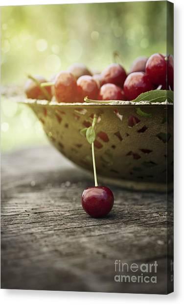 Mythja Canvas Print - Fresh Cherry by Mythja  Photography