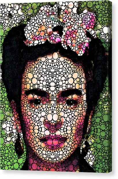 Famous Artists Canvas Print - Frida Kahlo Art - Define Beauty by Sharon Cummings