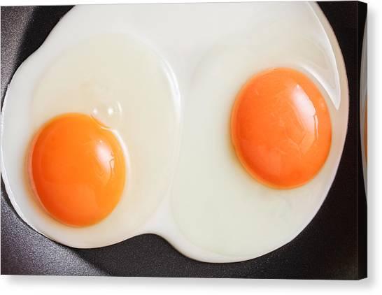Brunch Canvas Print - Frying Eggs by Tom Gowanlock