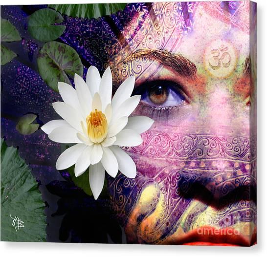 Full Moon Lakshmi Canvas Print