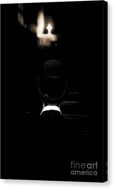 Undertaker Canvas Print - Funeral Director Sitting In Pew by Jorgo Photography - Wall Art Gallery