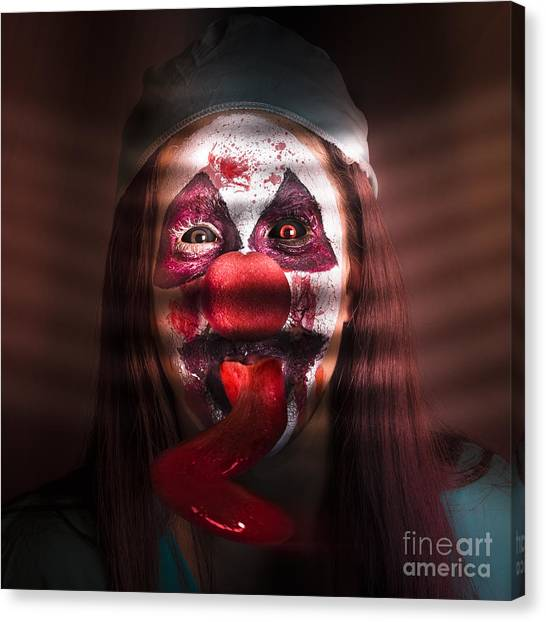 Clown Art Canvas Print - Funny Medical Clown In The Hospital Closet by Jorgo Photography - Wall Art Gallery