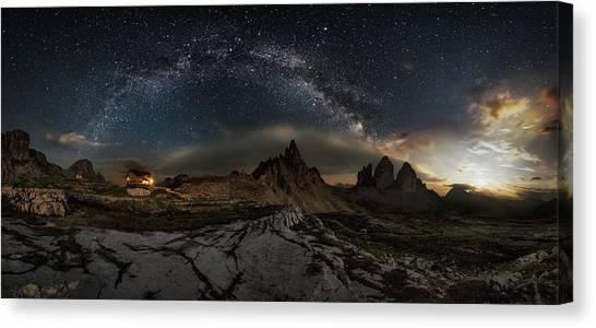 Dolomites Canvas Print - Galaxy Dolomites by Ivan Pedretti