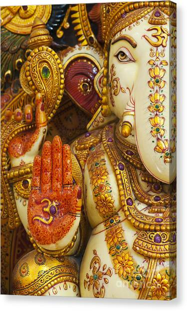 Om Canvas Print - Ornate Ganesha by Tim Gainey