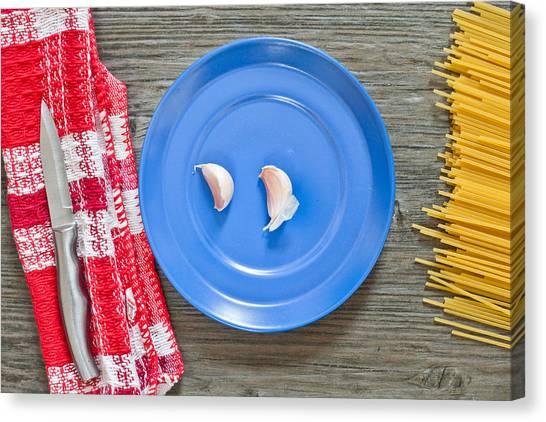 Condiments Canvas Print - Garlic by Tom Gowanlock