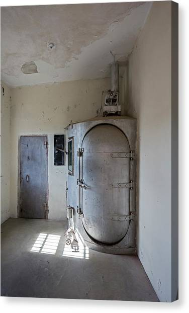 Detention Canvas Print - Gas Chamber At Wyoming Frontier Prison by Jim West