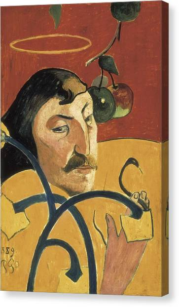 Gauguin, Paul 1848-1903. Self-portrait Canvas Print by Everett
