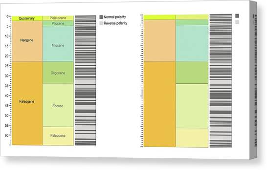 Academic Art Canvas Print - Geomagnetic Polarity Time Scale by Gary Hincks