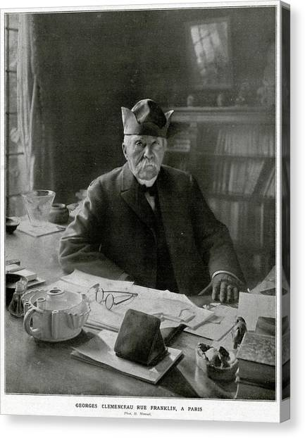 Georges Clemenceau  French Statesman Canvas Print by Mary Evans Picture Library
