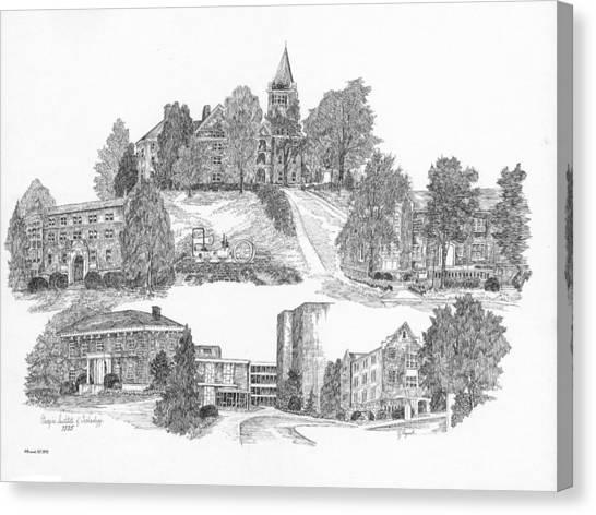 Georgia Institute Of Technology Georgia Tech Canvas Print - Georgia Institute Of Technology by Jessica Bryant