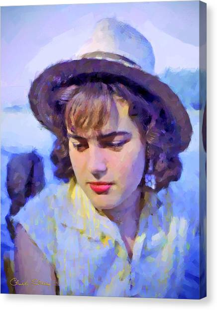 German Girl On The Rhine Canvas Print