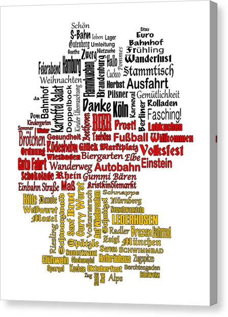 Germany Map Canvas Print