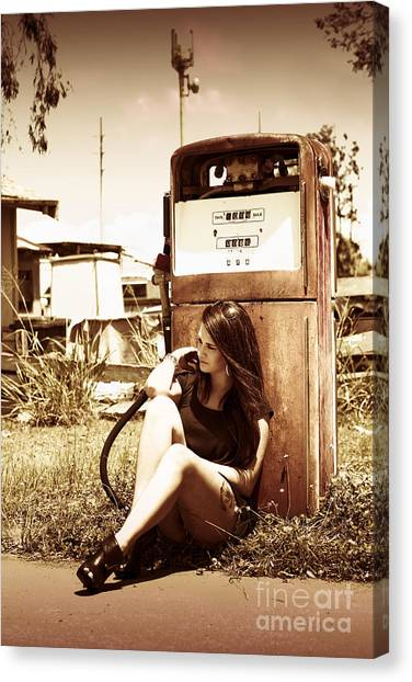 Clean Energy Canvas Print - Ghost Town Named Oil And Gas by Jorgo Photography - Wall Art Gallery