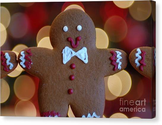 Bow Canvas Print - Ginger-bokeh by Amy Cicconi