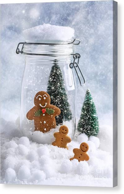 Snowball Canvas Print - Gingerbread by Amanda Elwell