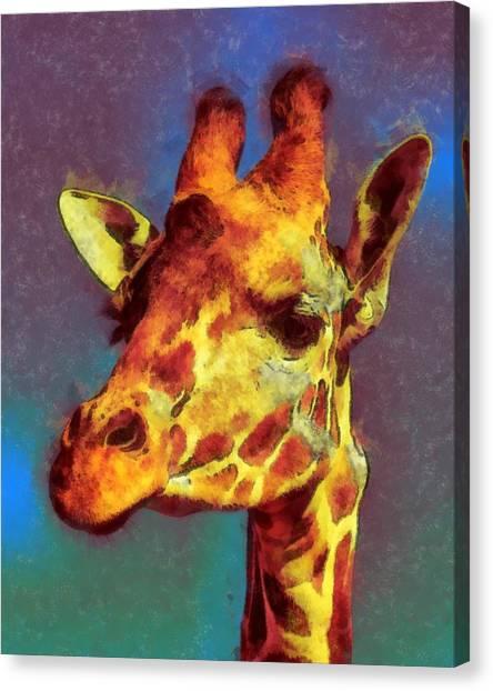 Giraffe Abstract Canvas Print