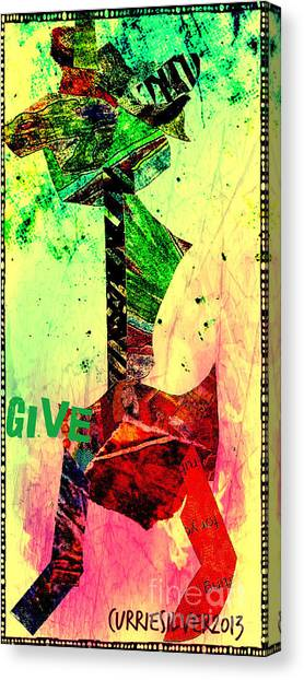 Give Canvas Print by Currie Silver