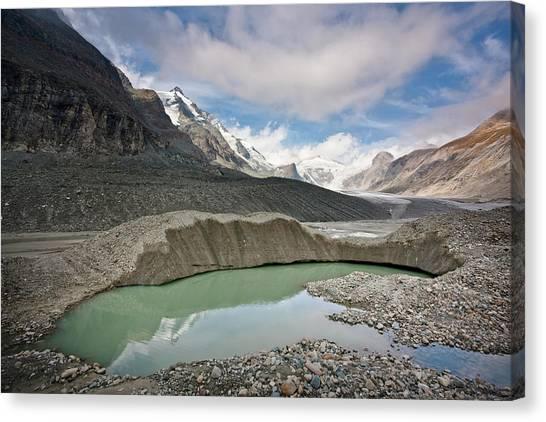 Pasterze Glacier Canvas Print - Glacier Foreland And Disintegration by Martin Zwick