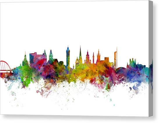 United Kingdom Canvas Print - Glasgow Scotland Skyline by Michael Tompsett