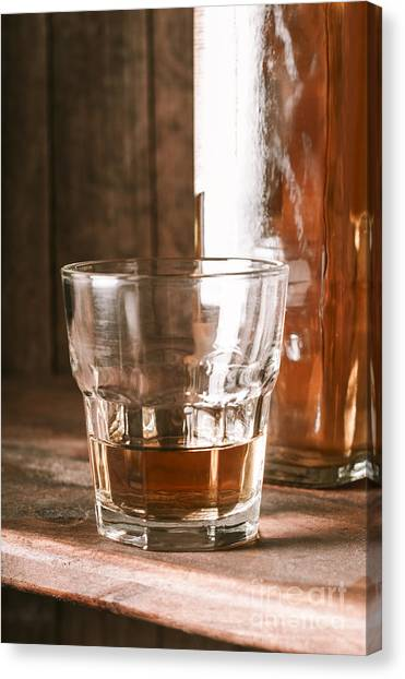 Scotch Canvas Print - Glass Of Southern Scotch Whiskey On Wooden Table by Jorgo Photography - Wall Art Gallery