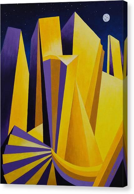 Golden City 2 Canvas Print
