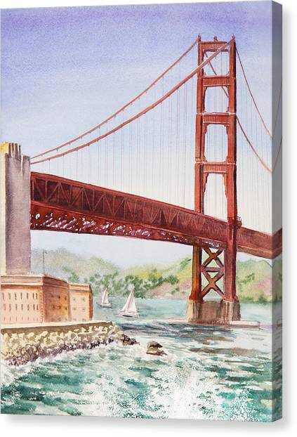 Irina Canvas Print - Golden Gate Bridge San Francisco by Irina Sztukowski