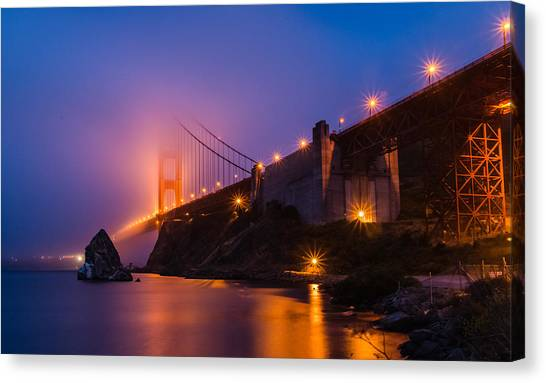 Golden Gate Canvas Print by Mike Ronnebeck