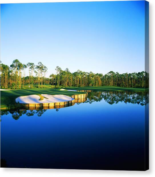 Golf Course Canvas Print - Golf Course At The Lakeside, Regatta by Panoramic Images
