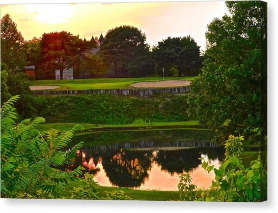 Jack Nicklaus Canvas Print - Golf Course Beauty by Frozen in Time Fine Art Photography