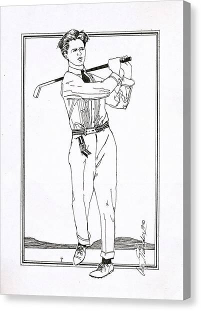 Golfer 1915 Canvas Print