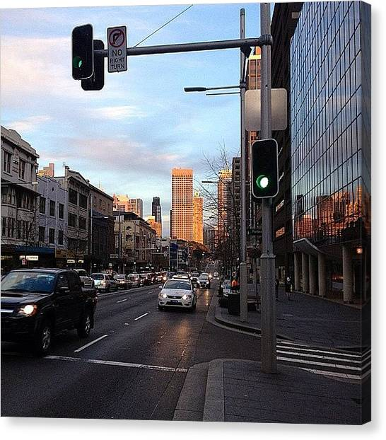 Stoplights Canvas Print - Good Morning Sydney - A Bright Start To by Gary David