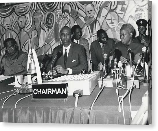 �good Neighbors� Conference, Dares Salaam, Tanzania Canvas Print by Retro Images Archive