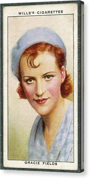 Gracie Fields  English Singer Canvas Print by Mary Evans Picture Library