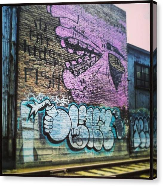 Warehouses Canvas Print - #graffiti #nola by Glen Abbott
