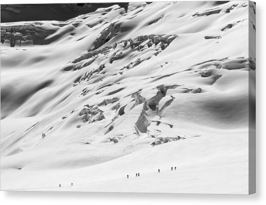 Touring Canvas Print - Granite Glacier by Ian Stotesbury