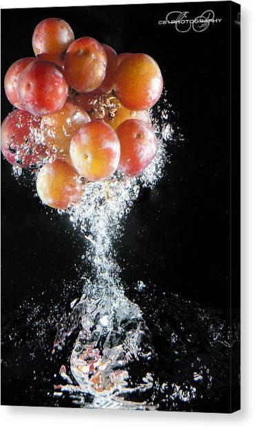 Grapes Splash Canvas Print